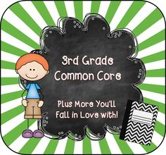 3rd Grade Board for Common Core....plus more you'll fall in love with! :) CREDITS: Fonts by Jen From Hello Literacy, Graphics by Ashley Hughes and From the Pond, Background by MooandPuppy.