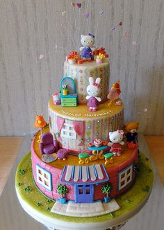 Китти ждет гостей: Hello Kitty Cake (and friends) the details are amazing!