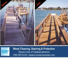 http://topeka.renewcrewclean.com/deck-cleaning – Wooden dock cleaning is one of our specialties. Docks are constantly exposed to the elements and need cleaning, sealing and protection to remain stay looking good and safe. Very few companies have as much experience with dock cleaning as Renew Crew of Topeka/Lawrence. We serve Topeka plus Lawrence KS. Free estimates.