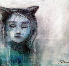Original Sheila Cameron painting I Am The Cat by SheilaCameron
