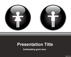 Female and male PowerPoint template is a free gender template for presentations with people or related to people powerpoint templat, gender templat