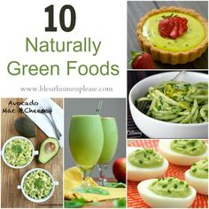10 Naturally green foods for #StPatricksDay