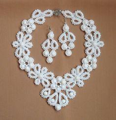 beadweav jewelri, bridal necklac