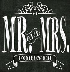 Mr & Mrs Printable Subway Art 12x12 FREE Printable