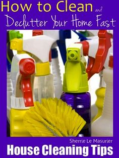FREE e-Book: House Cleaning & Decluttering Tips! {+ 37 Creative Uses for Vinegar} at TheFrugalGirls.com