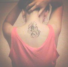 initial tattoo.