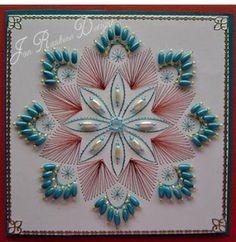 card stitching, bead patterns, cardmaking, string art, beads