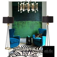 Modern Vintage~Golden accents with turquoise and green. #Lighting #Design #interiordesign #HomeDecor