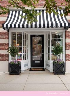 Black and white theme with plant boxes