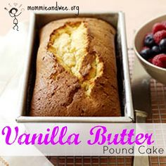 Delicious pound cake with printable #recipe | Mommie and Wee
