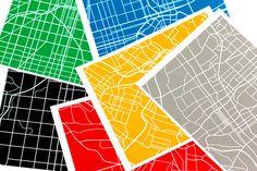 Map Prints #map #silkscreen #print
