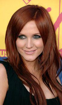 beautiful auburn hair color