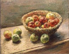 Claude Monet, 1880, A Bowl of Apples #art #painting