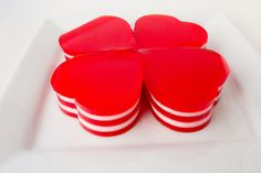 Jello Hearts for Valentine's Day