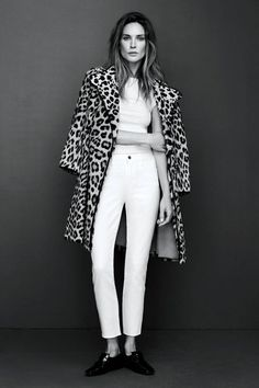 Black and white and leopard all over.