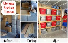 DIY Garage Storage Tutorial with step by step pictures!