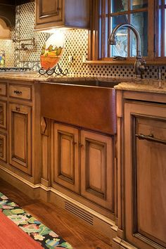 Rustic Beauty-- love the cabinets