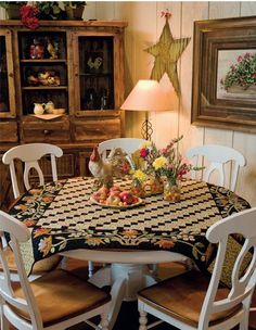 Simple Comforts by Martingale | That Patchwork Place, -- I love this quilt on the table!!!
