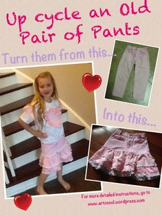 Use up your fabric scraps to transform pants that are too short  Jeans Skirt #2dayslook #lily25789 #JeansSkirt  www.2dayslook.com