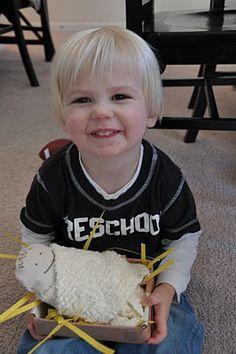 Baby Jesus craft for children