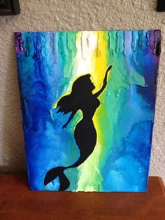Awesome take on the Melted Crayon Art, Little Mermaid style.