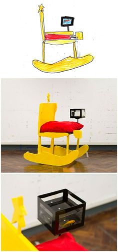 How fun is this idea. Turn your kids' art into furniture! (via designboom)