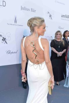 Sharon Stone in Roberto Cavalli. 15 Hollywood and Fashion Style Stars - Best Dressed 5/27/13 http://toyastales.blogspot.com/2013/05/15-hollywood-and-fashion-style-stars.html