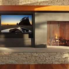 Tv Next To Fireplace Design, Pictures, Remodel, Decor and Ideas