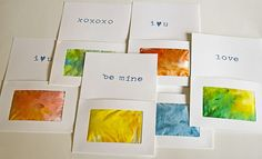 valentines day cards- really cute idea!