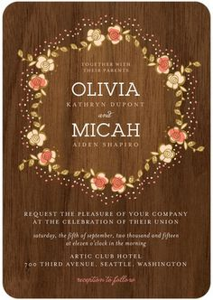 Floral Wreath wedding invite
