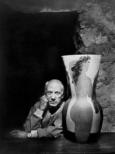 Pablo Picasso  |  by: Yousuf Karsh  |  1954