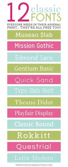 12 Polices d'écriture classiques #font