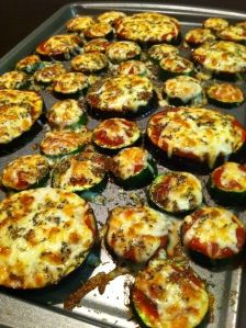 Broiled Zucchini and Eggplant Slices