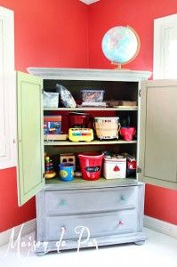 Armoire toy storage upcycle