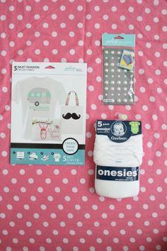 Iron On Onesie #Target #baby #DIY