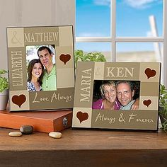 Loving Hearts Personalized Photo Frame