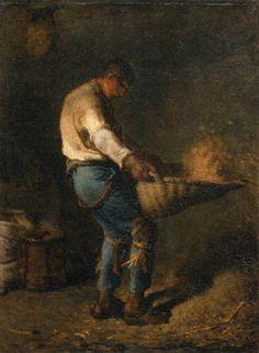 Jean-François Millet (1814–1875)  le vanneur