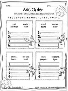 Snowman Worksheet Freebies