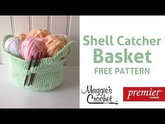 Shell Catcher Basket Free Crochet Pattern with Maggie Weldon - Right Handed tute, thanks so as love these baskets! yay xox