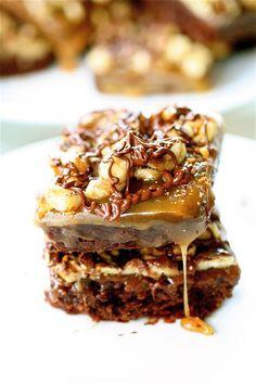Turtle Brownies  Yum!