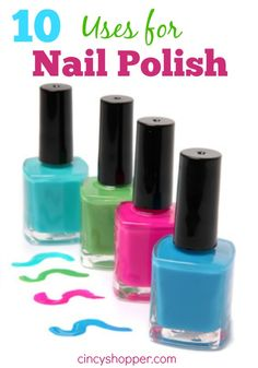 This pin is brought to you by Coffee-Mate #CMSmartCookie #BH   10 Uses for Nail Polish. Nail Polish can be used for many things besides just panting your nails. Check out the 10 Other Ways to use your polish.