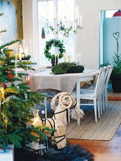rug, christmas tables, goat, swedish style, home decorations