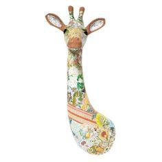 Giraffe wall art - patchwork papier mache