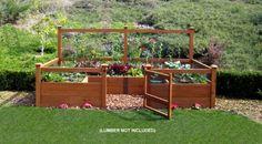 garden kit, raised gardens, lawn, secret garden, garden pictur
