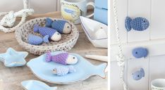 #Amigurumi : des #poissons au #crochet
