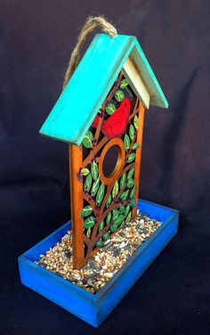 RED BIRD FEEDER A Hand Painted Bird Feeder With by KrugsStudio, $19.99 Christmas is coming! What a wonderful gift for your bird loving friends!