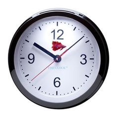 Betta Fish Clock Black now featured on Fab.