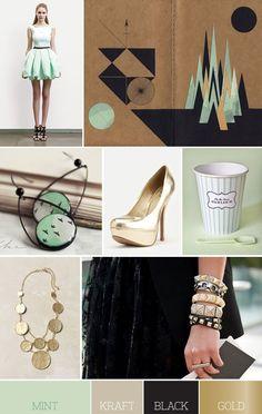 mint + black + gold