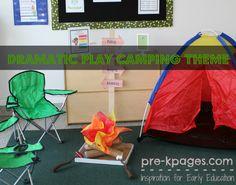 camp theme, book nooks, camping theme, dramat play, play areas, play ideas, summer fun, dramatic play centers, preschool