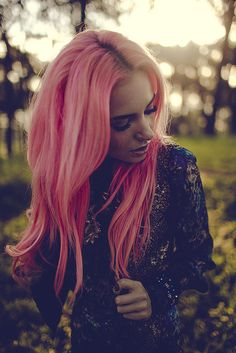 so into pink hair